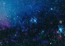 满天星斗的外层空间背景纹理 外层空间 免版税库存照片