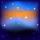满天星斗的天空传染媒介EPS 10 免版税图库摄影