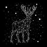 满天星斗的天空星座鹿 库存图片