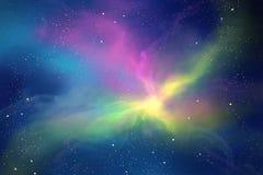 满天星斗的天空 库存图片