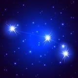 满天星斗的星座白羊星座 免版税图库摄影