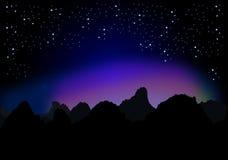 满天星斗的晚上 免版税库存图片