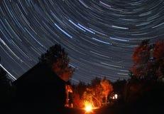 满天星斗的晚上 免版税图库摄影