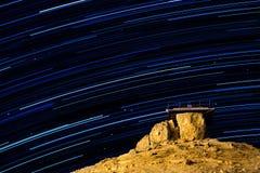 满天星斗的繁星之夜 库存照片