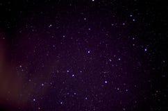 满天星斗的繁星之夜 库存图片
