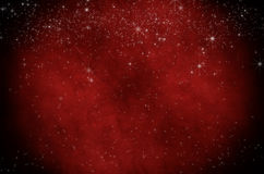 满天星斗的红色圣诞节羊皮纸 图库摄影