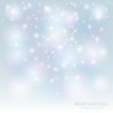满天星斗背景的圣诞节 免版税库存照片