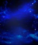 满天星斗背景的天空 库存图片