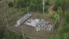 天景电厂、变电站、电缆及电线 高压变电所 电气 影视素材
