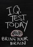 今天智商测试 免版税库存照片