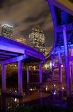 天桥和街市休斯敦 免版税库存图片