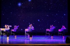 天毕业2 -中国民间舞 图库摄影