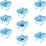 天气动画片雪云彩设置了006 库存例证