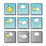 天气图标 库存图片