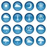 天气按钮 免版税库存照片