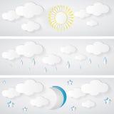 天气横幅 库存照片