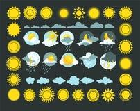 天气象传染媒介集合 库存例证