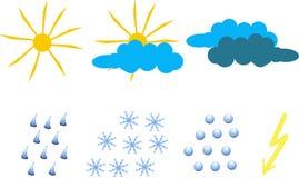 天气象的Clipart 库存照片