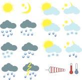 天气象的Clipart 免版税库存照片