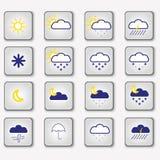 天气象,传染媒介例证 图库摄影