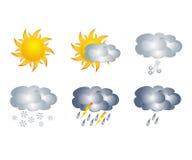 天气象,隔绝在白色 免版税库存图片
