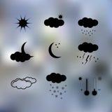 黑天气象 免版税图库摄影