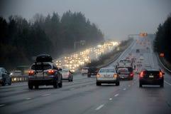 天气雨天在巴克利华盛顿美国 库存照片