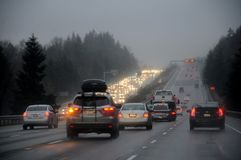天气雨天在巴克利华盛顿美国 免版税库存照片