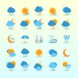 天气预报和气象学集合 免版税图库摄影