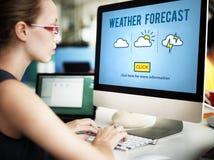 天气预报自然气候变化概念 免版税图库摄影