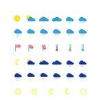 天气预报象集合 库存图片