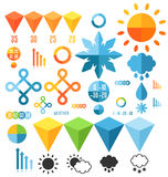 天气 套infographics元素 免版税库存图片