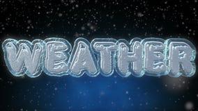 天气3D词-文本使成环的动画 股票录像