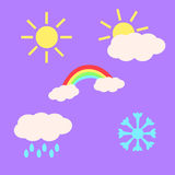 天气Emojis 免版税库存照片
