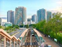 天水围,香港看法  库存照片