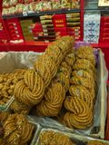 天津著名快餐 转弯和甜点 旅行在天津,中国, 库存照片