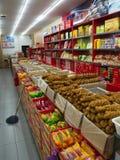 天津著名快餐 转弯和甜点 旅行在天津,中国, 免版税库存图片