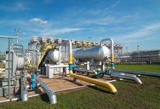 天然气产业处理 免版税库存照片