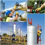 天然气产业油 图库摄影