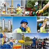 天然气产业油 库存图片