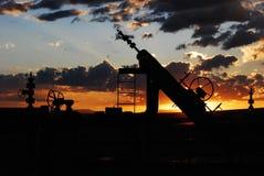 天然气产业油 免版税图库摄影