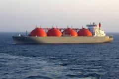 天然气产业液化天然气油槽 免版税库存照片