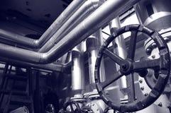 天然气产业液压系统 免版税库存图片