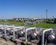 天然气产业自然油 库存图片