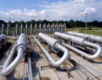 天然气产业自然油 免版税库存图片