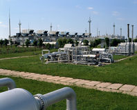 天然气产业自然油 免版税库存照片