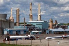 天然气加工厂 免版税库存图片