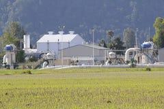 天然气基础设施 库存照片