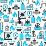 天然气生产、射入和存贮 行业无缝的模式 向量例证