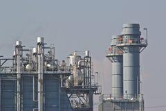 天然气联合循环能源厂 免版税库存照片
